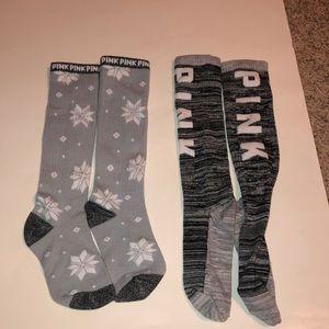 ~PINK christmas socks~